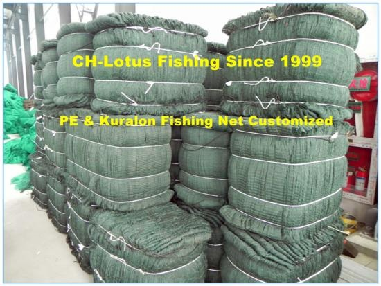 PE or kuralon multi fishing net fish net