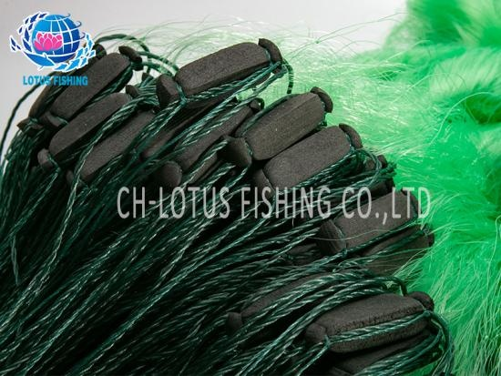 Old fisherman three-layer fishing net sticky net thick wire mesh yellow wire mesh fishing net hanging net crucian carp net sinking net reservoir sea net